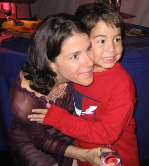 Alexandra Pelosi and her cousin