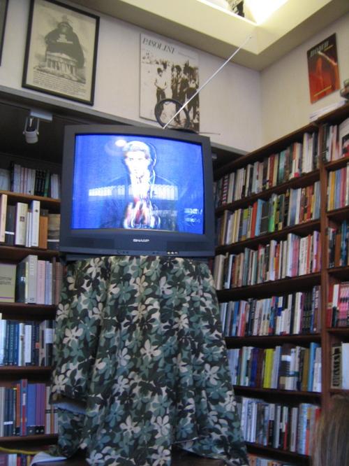 Watching the  third debate at City Lights
